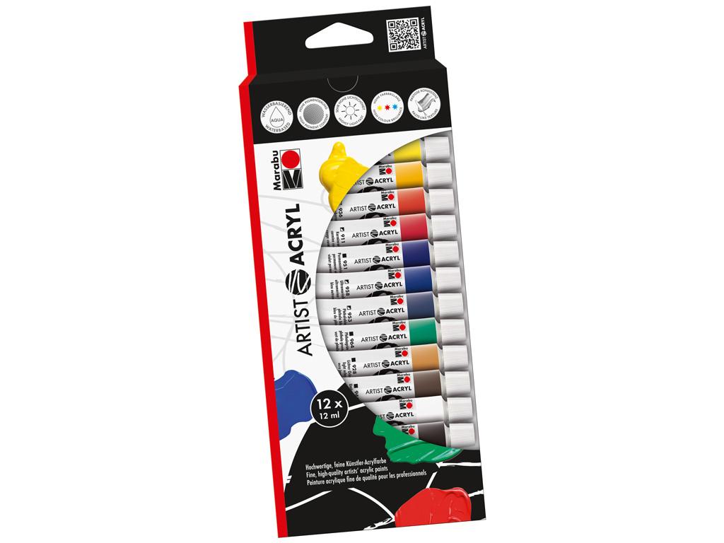Akrila krāsa Marabu Artist 12x12ml