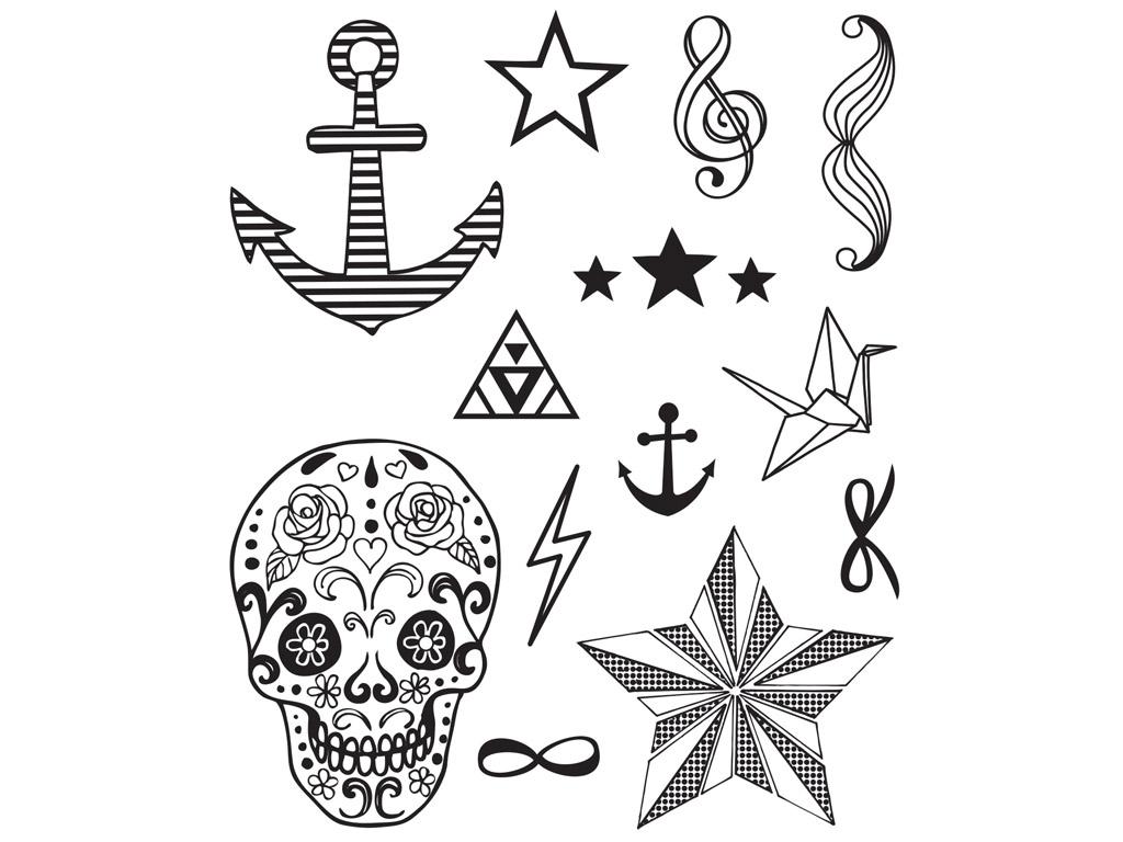 Zīmogs Aladine Stampo Tatoo 13gab. Fashion + zīmoga spilventiņš melna