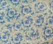 Nepaali paber 51x76cm Roses with Lines Blue on Natural