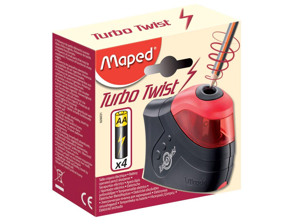 Zīmuļu asināmais Maped Turbo Twist elektrisks 4xAA (baterijas nav iekļautas)