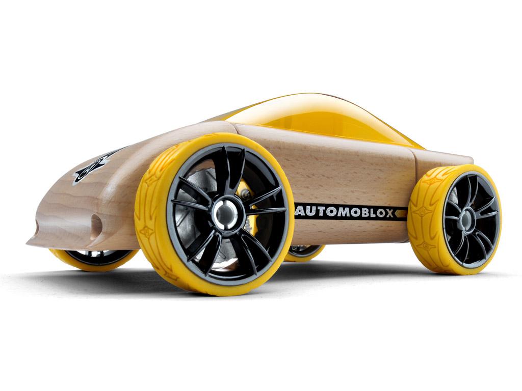Žaislinis automobilis Automoblox Original C9 sportscar yellow