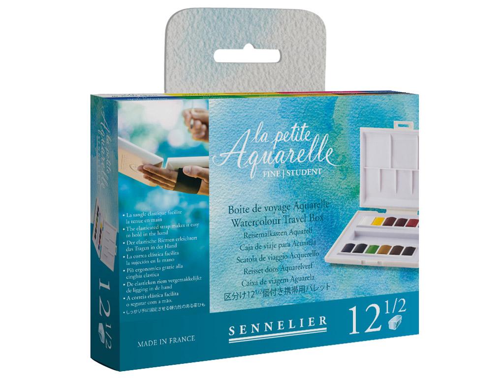 Akvarellvärv Sennelier La Petite Aquarelle 12x1/2 nööpi