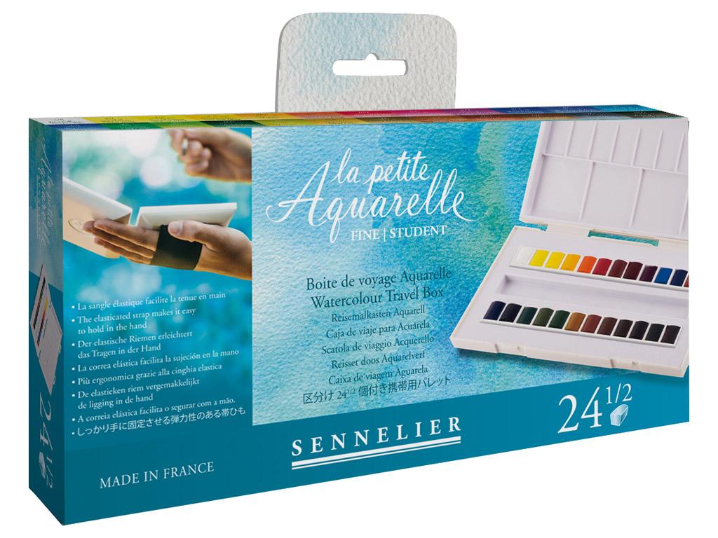 Akvarellvärv Sennelier La Petite Aquarelle 24x1/2 nööpi