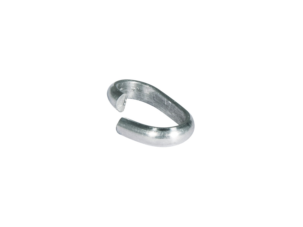 Ring wide 12x7x2mm 8pcs platinum