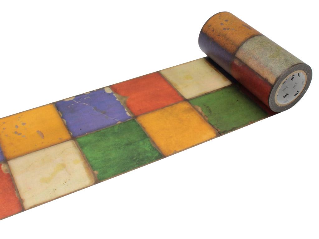 Washi līmlente mt casa deco 100mmx10m tile vintage