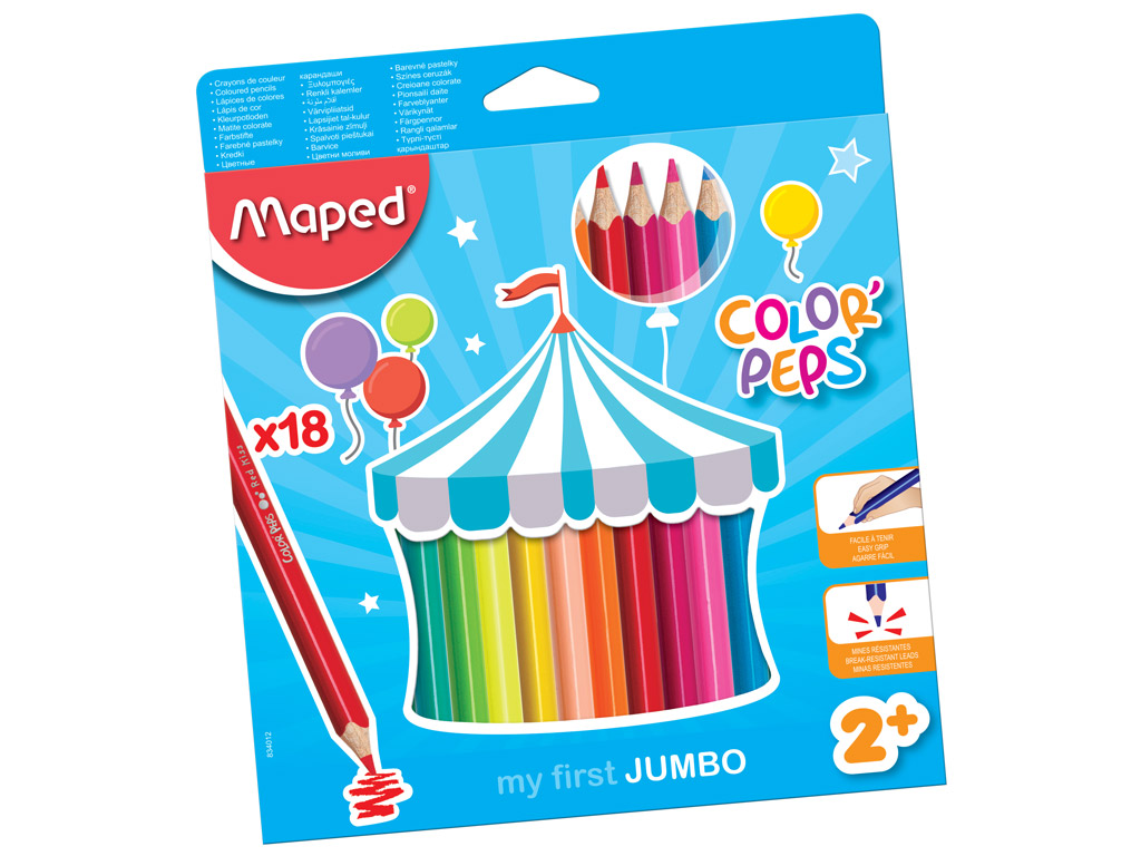 Colour pencils ColorPeps Early Age Jumbo 18pcs