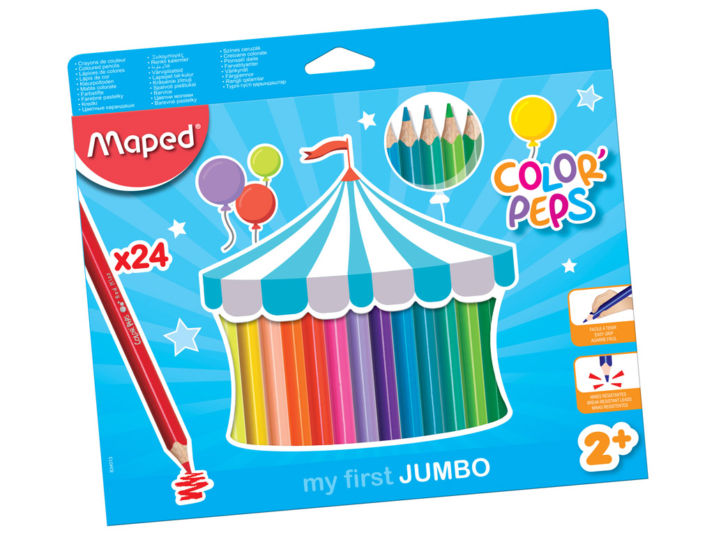 Colour pencils ColorPeps Early Age Jumbo 24pcs