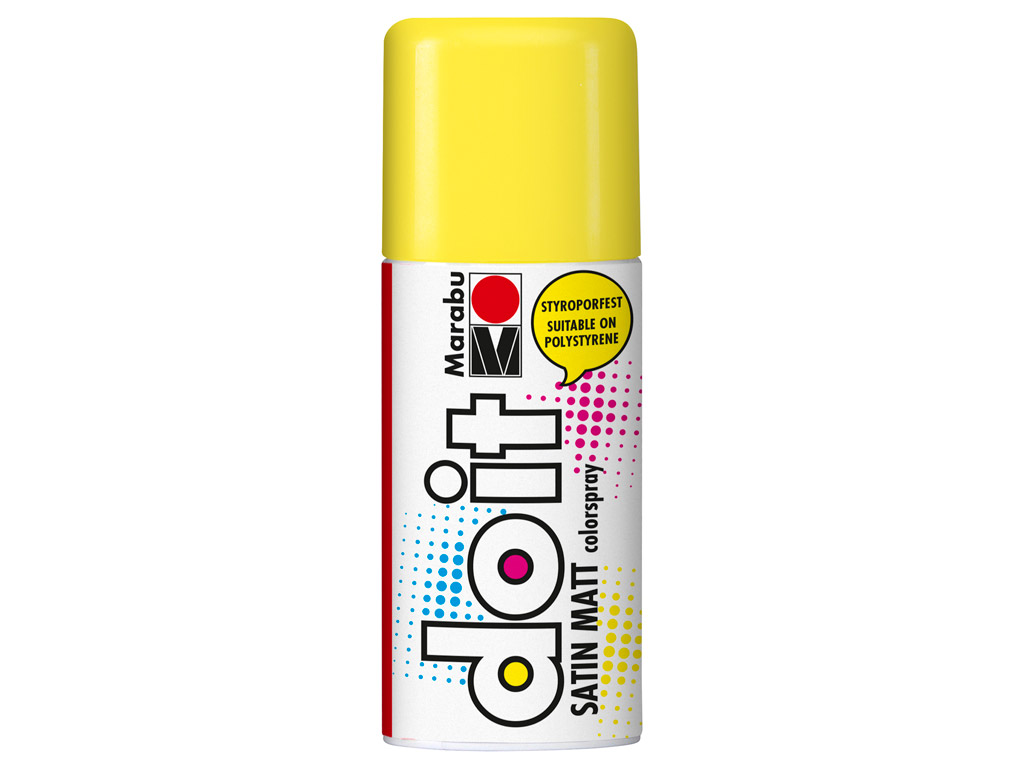 Aerozoliniai dažai do it Satin Matt 150ml 220 sunshine yellow