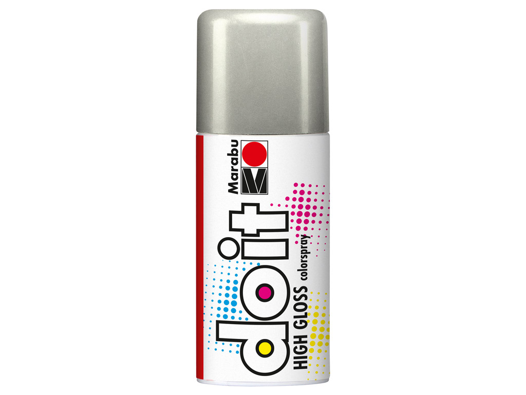 Aerozoliniai dažai do it High Gloss 150ml 482 silver