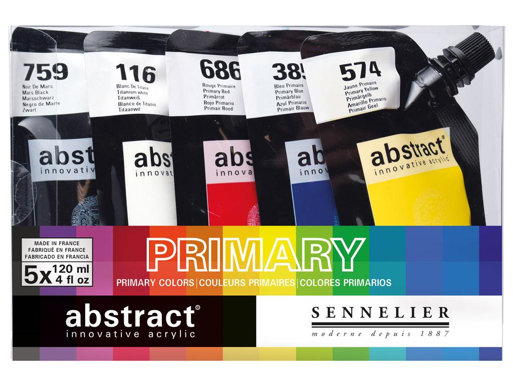 Akrüülvärv Abstract 5x120ml Primary