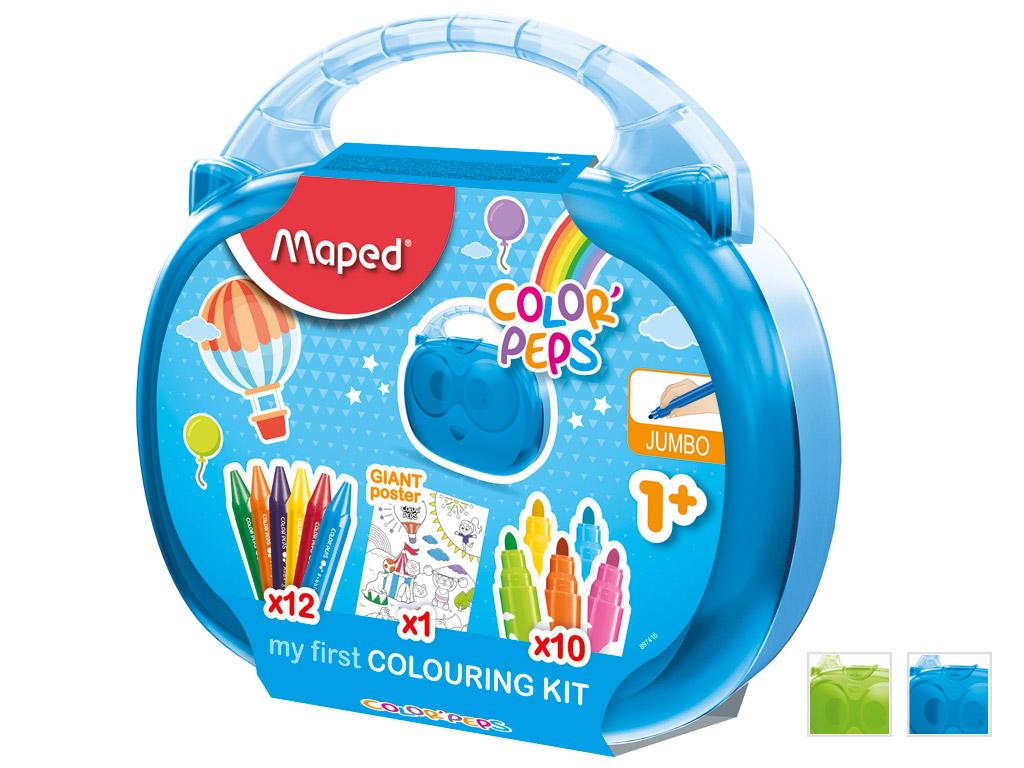 Piešimo reikmenų rinkinys ColorPeps Early Age lagaminėlyje rinkinys