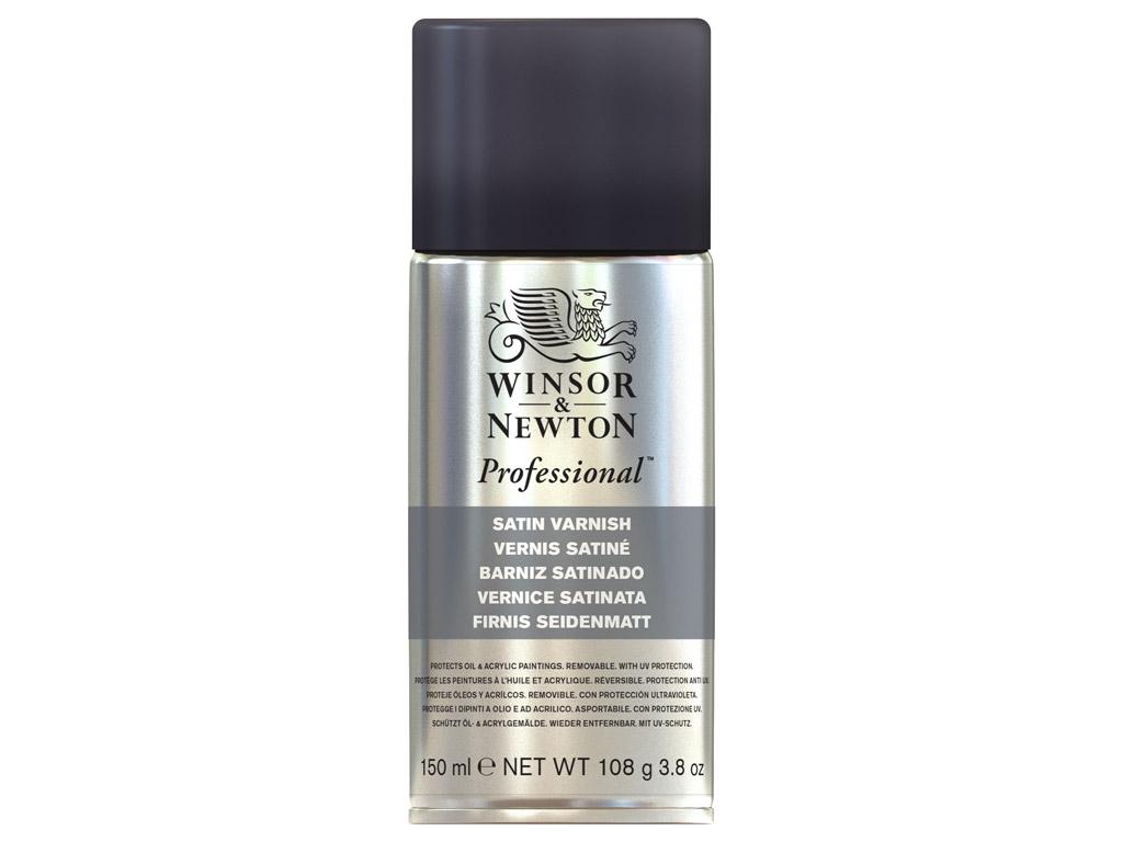 Eļļas krāsas laka W&N satin 150ml aerosols