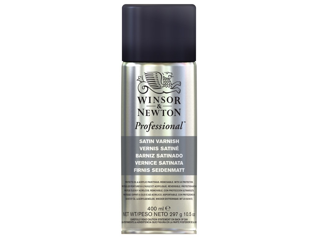 Eļļas krāsas laka W&N satin 400ml aerosols