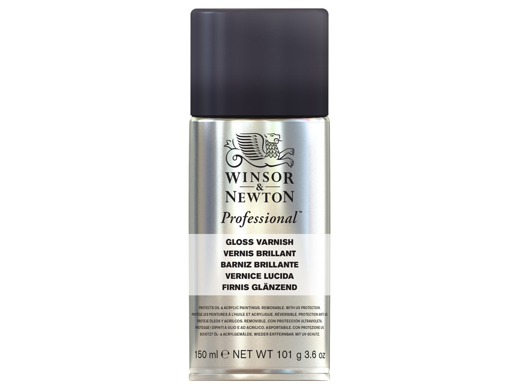 Gloss varnish for oil W&N 150ml spray