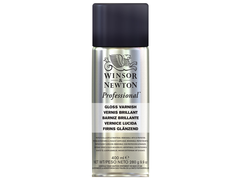 Gloss varnish for oil W&N 400ml spray