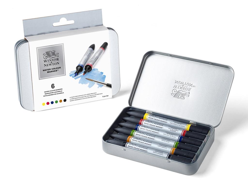 Akvarelinis markeris W&N 6vnt. metalinė dėžutė