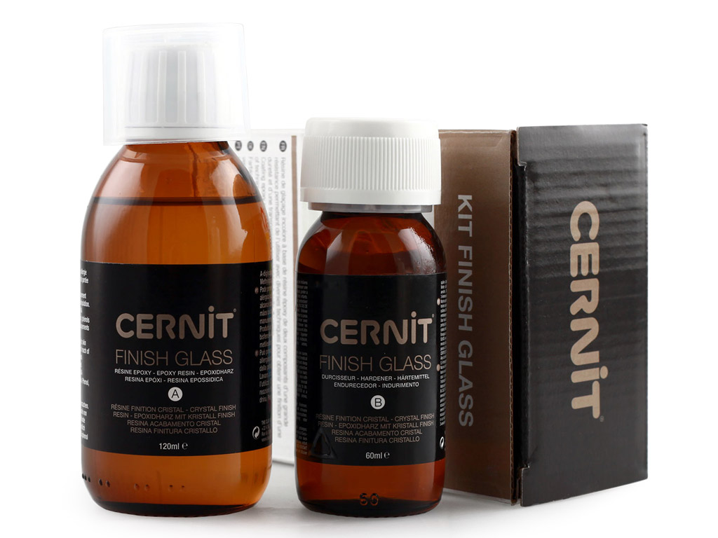 Kit finish glass Cernit epoxy resin 120ml+hardener 60ml