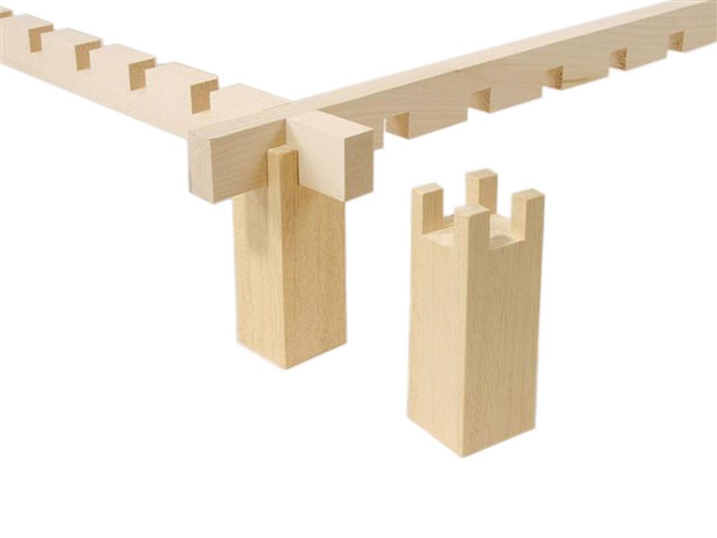 Siidiraami jalg puidust H Dupont 4tk