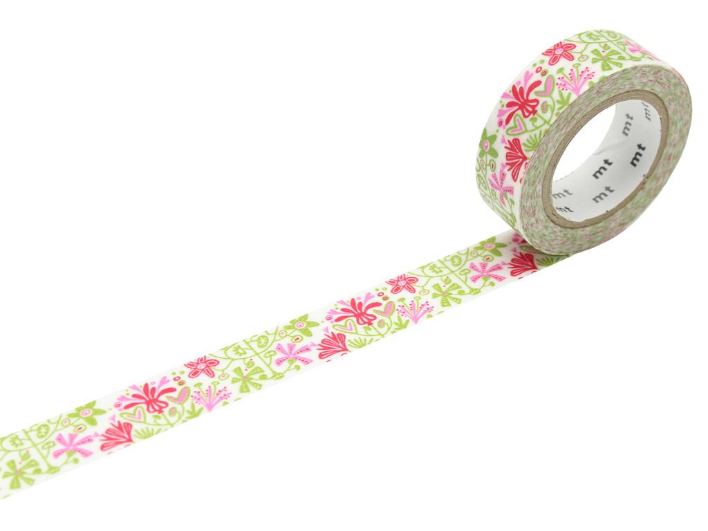 Washi dekoratyvi lipni juostelė mt Bengt&Lotta 15mmx10m alma pink