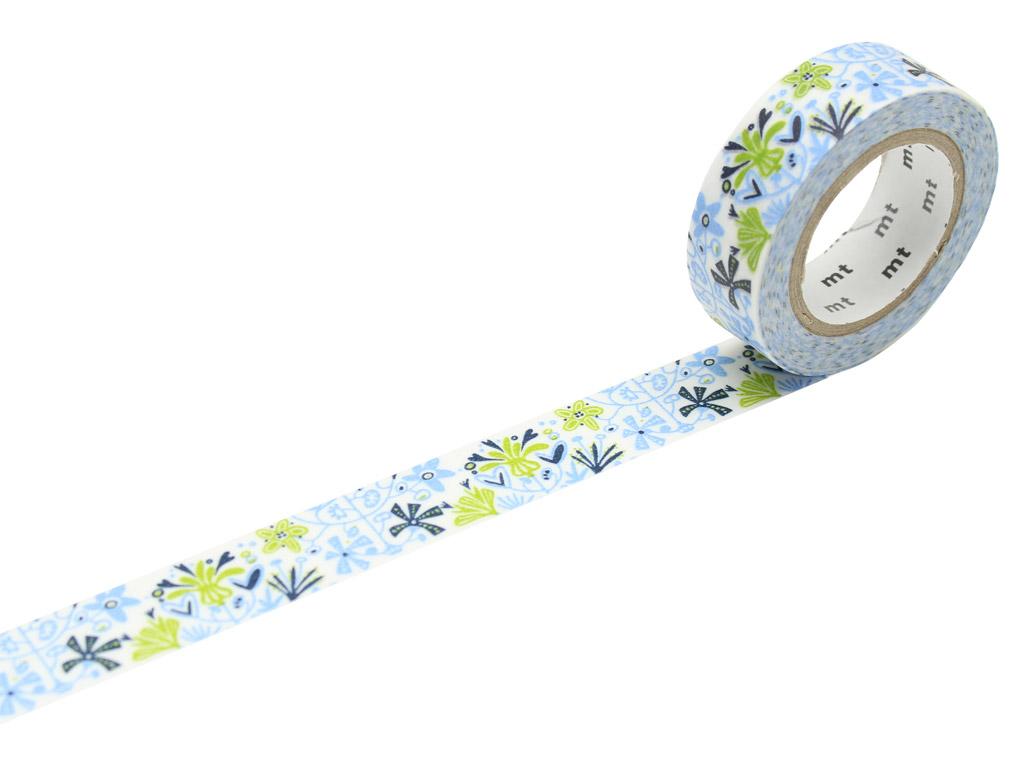 Washi dekoratyvi lipni juostelė mt Bengt&Lotta 15mmx10m alma blue