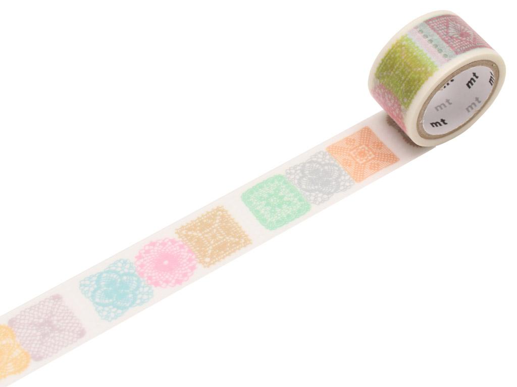 Washi līmlente mt fab 20mmx3m crochet