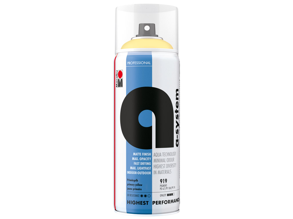 Krāsa aerosolā a-system 400ml 919 primary yellow