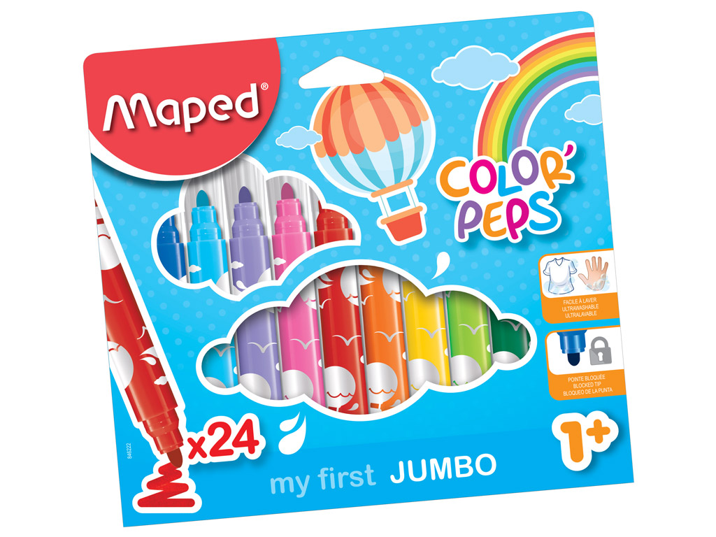 Flomasteri ColorPeps Early Age Jumbo 24gab.