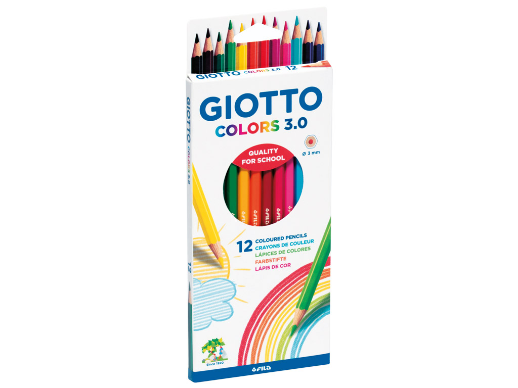 Spalvotas pieštukas Giotto Colors 3.0 12vnt.