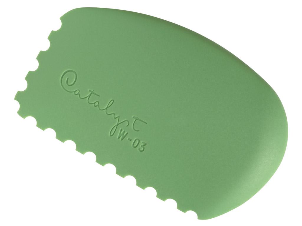 Värvikamm silikoonist Catalyst Wedge W-03 green