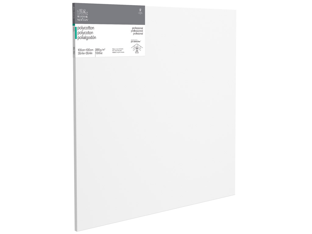 Streched canvas W&N Professional polycotton 100x100cm