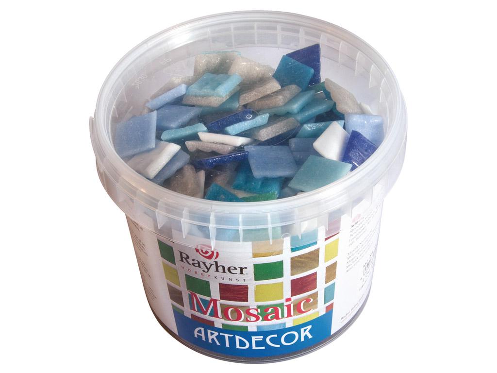 Mozaīkas akmeņi Rayher ArtDecor 2x2cm ~325gab./1kg zilie toņi
