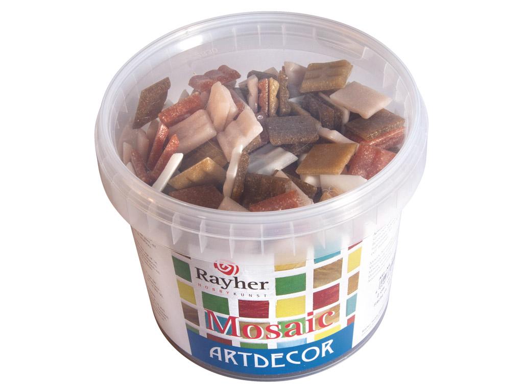 Mozaīkas akmeņi Rayher ArtDecor 2x2cm ~325gab./1kg dabiskie toņi