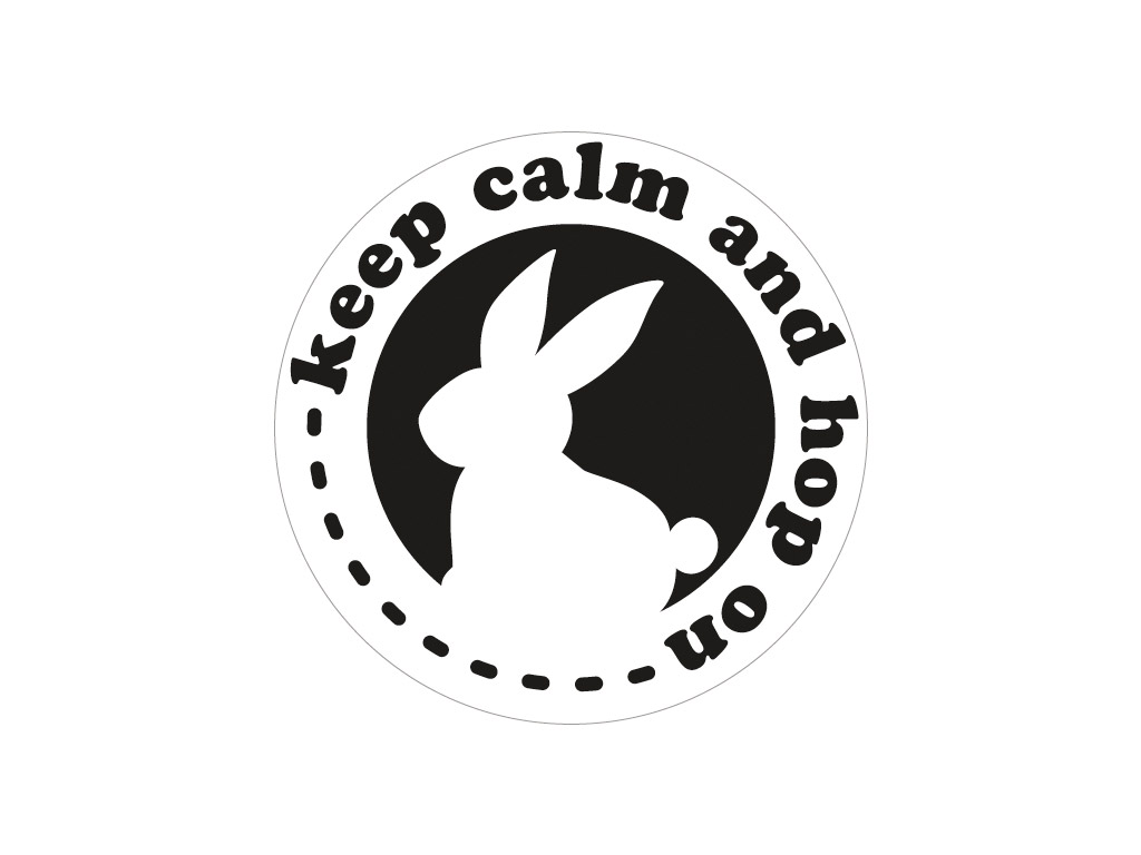 Tekstuurplaat valamistehnikaks Rayher d=45mm Keep calm and hop on