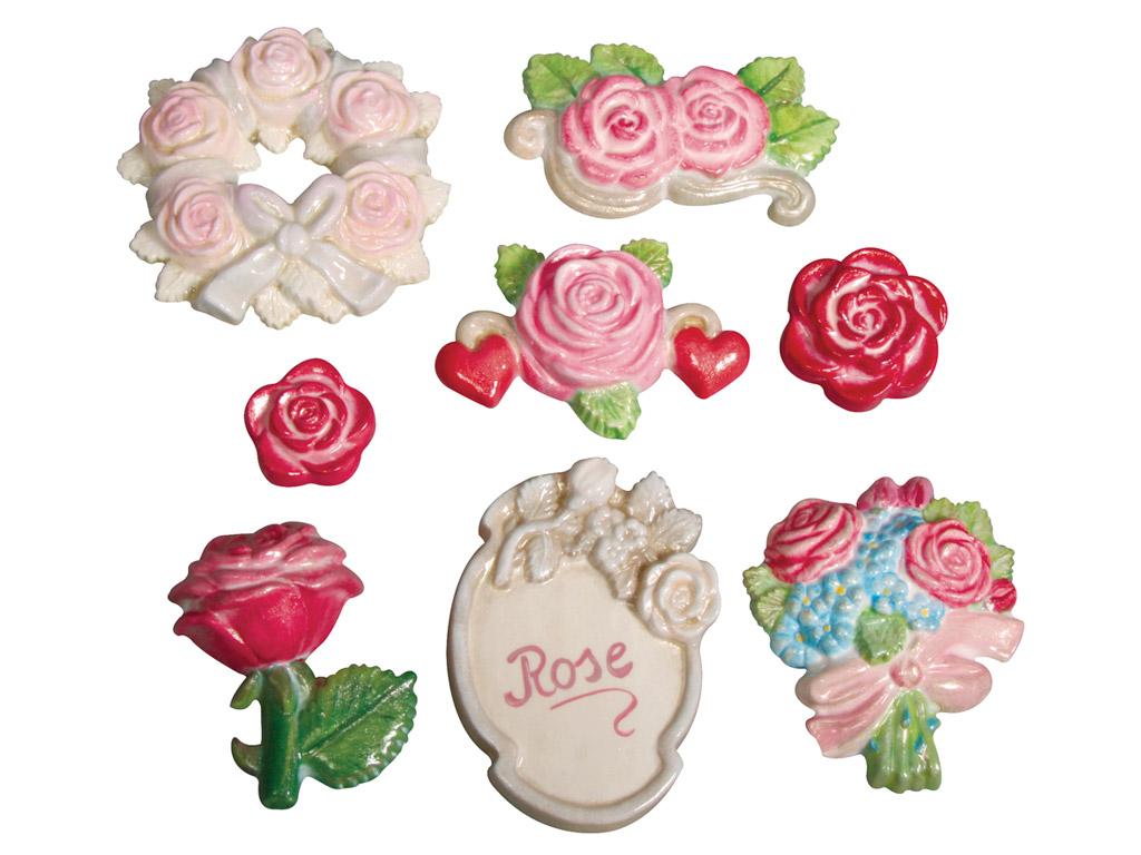 Forma Rayher ar līdzenu aizmuguri rozes 3.5-7cm 7 motīvi