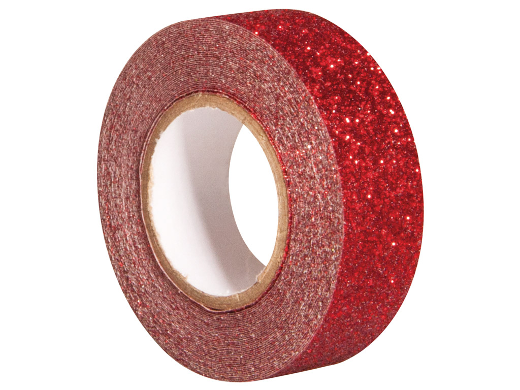 Glitterteip Rayher 15mmx5m classical red