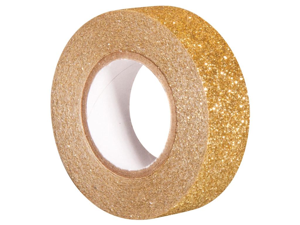 Glitterteip Rayher 15mmx5m gold