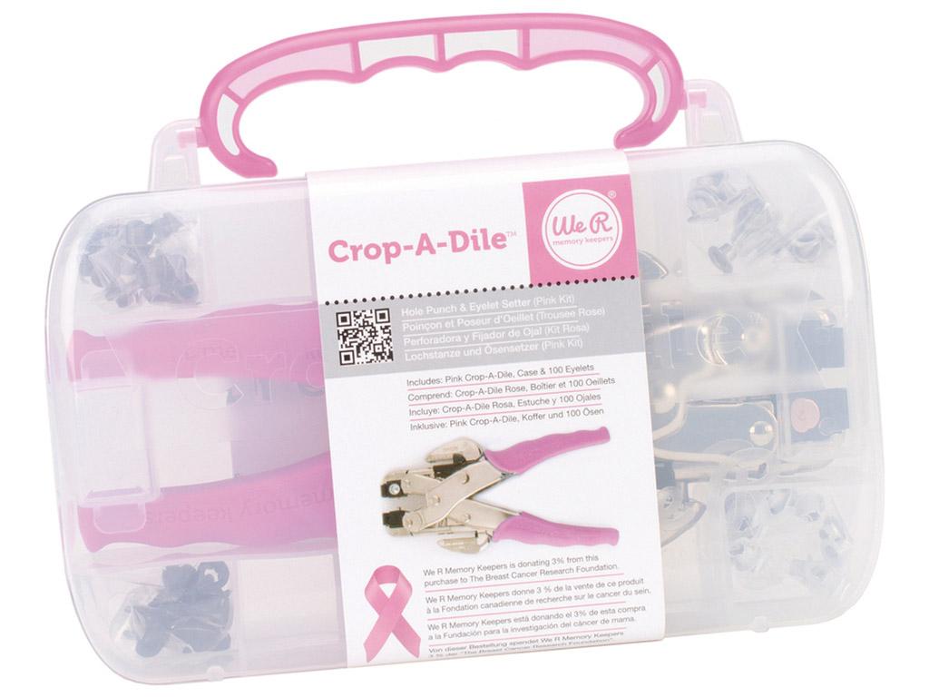 Kniedžių įmušimo įrankis Crop-a-Dile plastikinė dėžutė+100vnt. kniedžių
