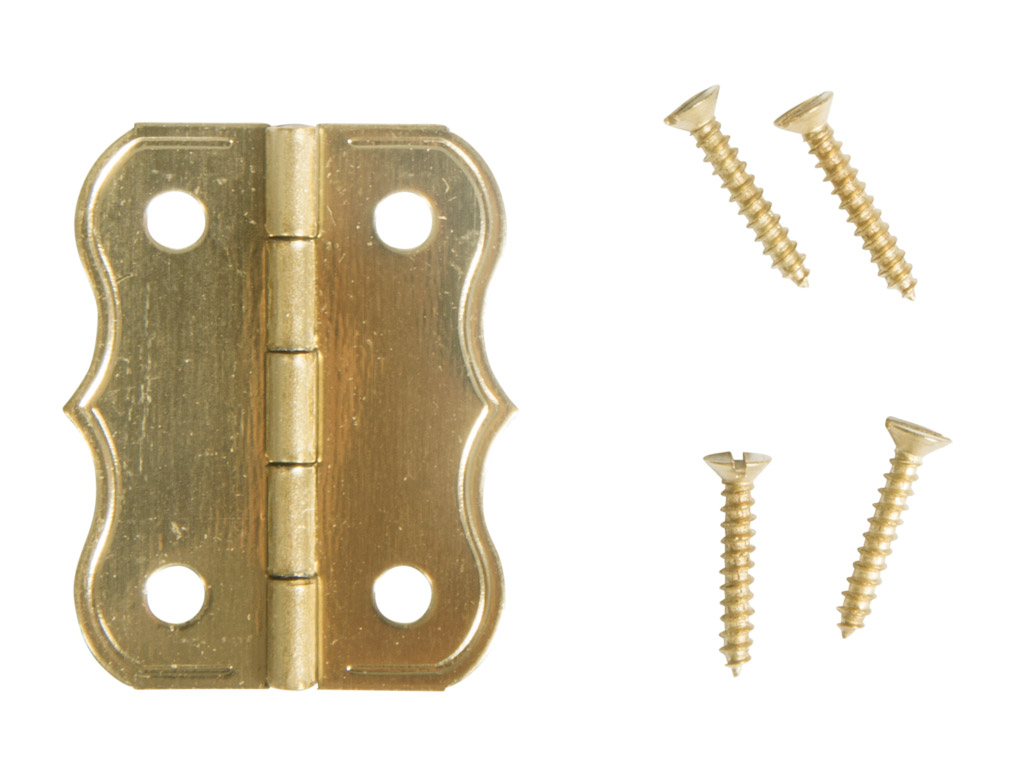 Deco hinges Rayher 25x20mm gold 4pcs with screws