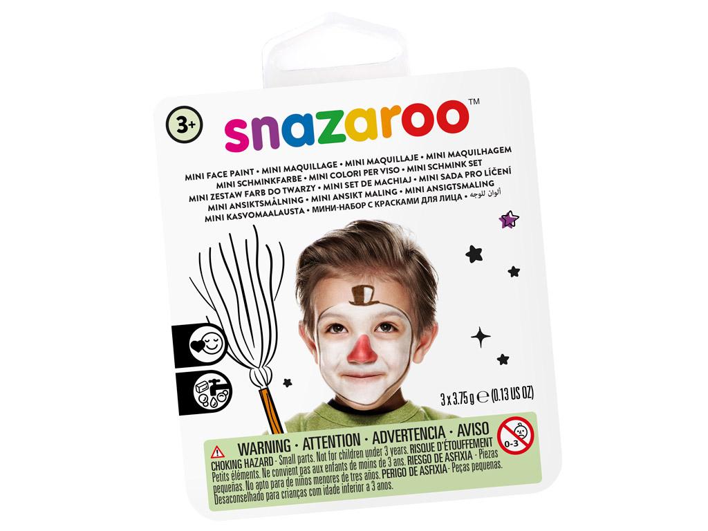 Näovärvide komplekt Snazaroo Mini 3 värvi+pintsel+svamm Snow Man