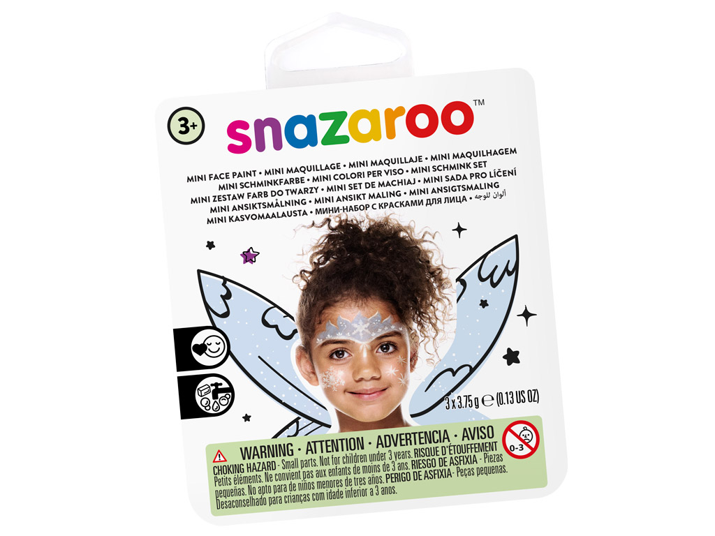 Näovärvide komplekt Snazaroo Mini 3 värvi+pintsel+svamm Ice Fairy
