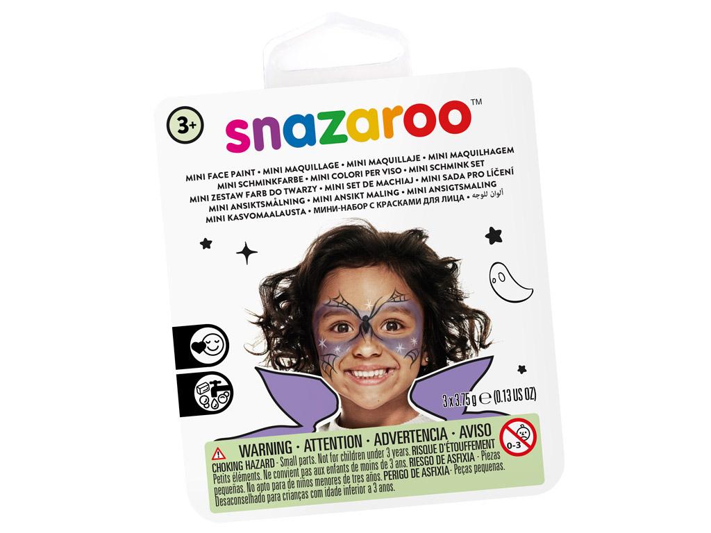 Näovärvide komplekt Snazaroo Mini 3 värvi+pintsel+svamm Witch