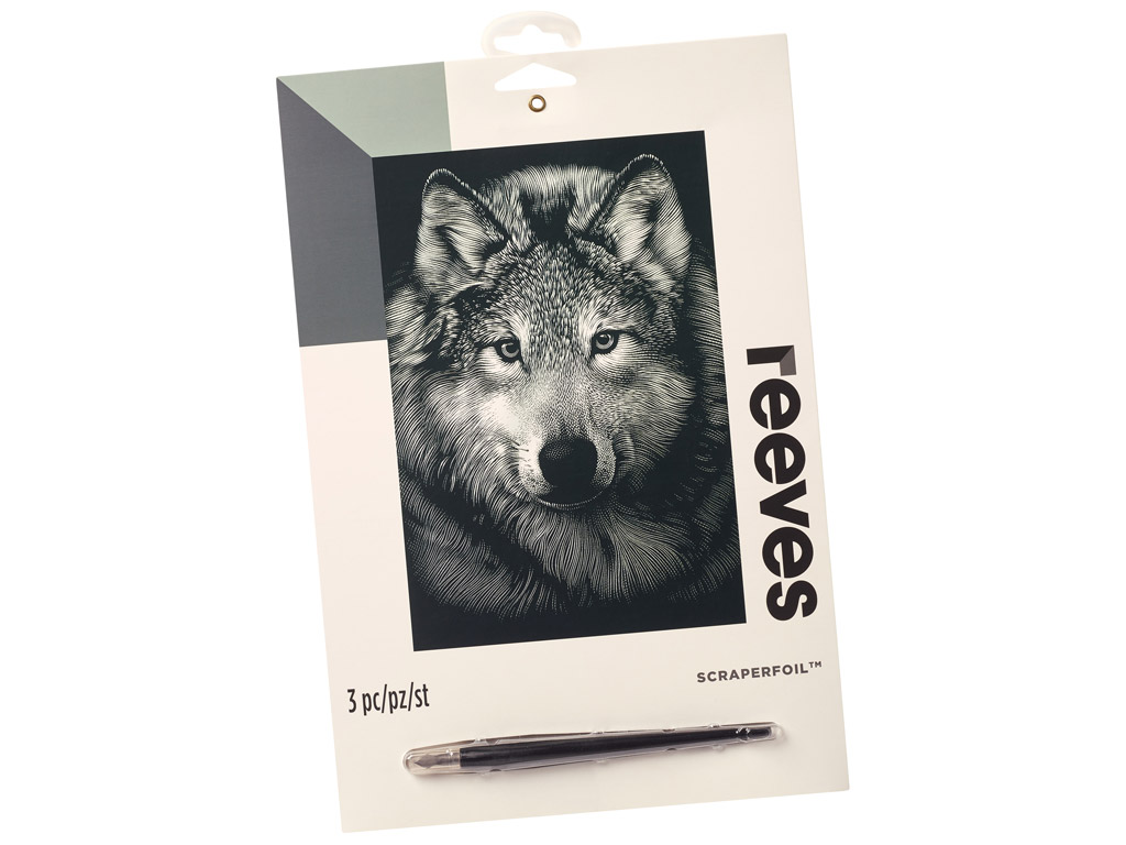 Folijos paveikslėlis Reeves 25x20cm Silver Wolf