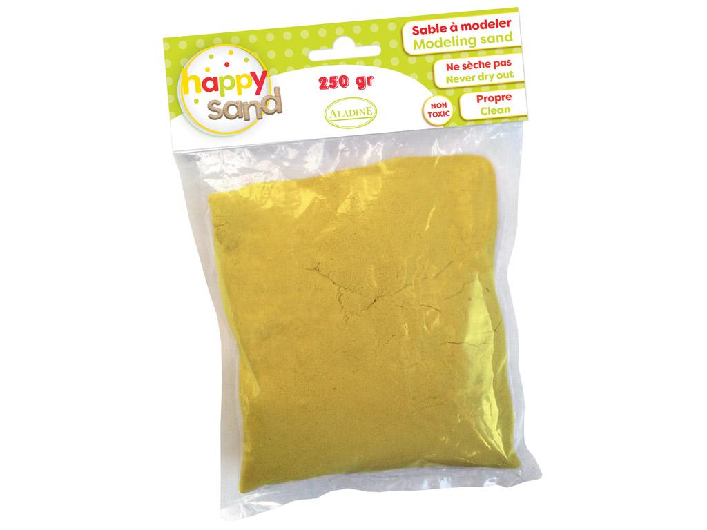 Kinetinis smėlis Aladine Happy Sand 250g geltona
