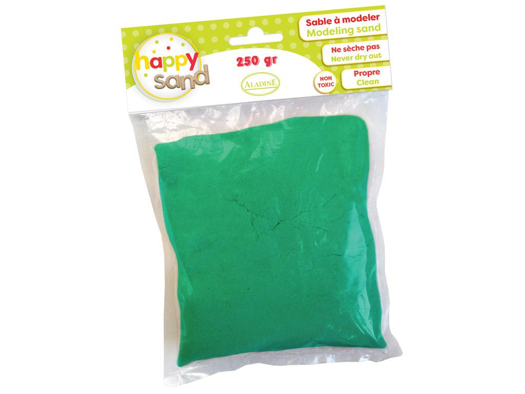 Kinetinis smėlis Aladine Happy Sand 250g tamsiai žalia
