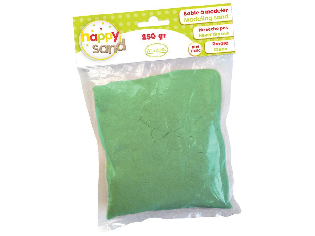 Kinētiskās smiltis Aladine Happy Sand 250g gaiši zaļa