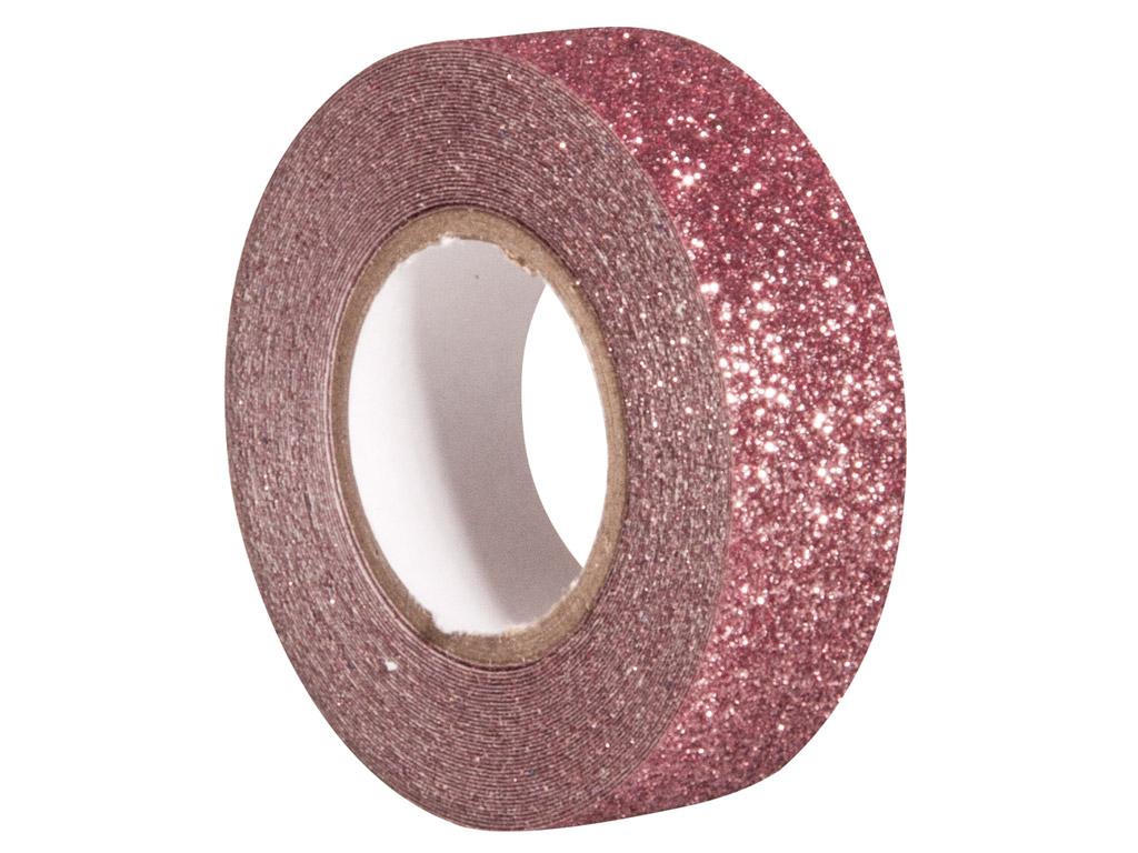 Glitterteip Rayher 15mmx5m antique pink