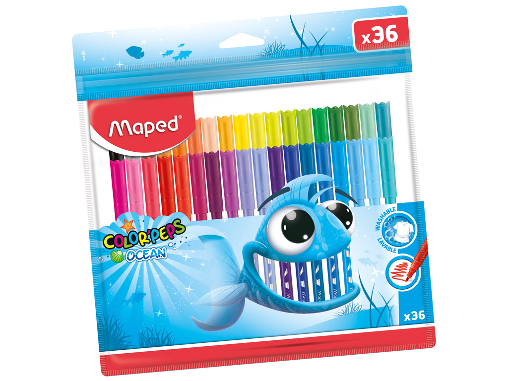 Felt pen ColorPeps Ocean 36pcs