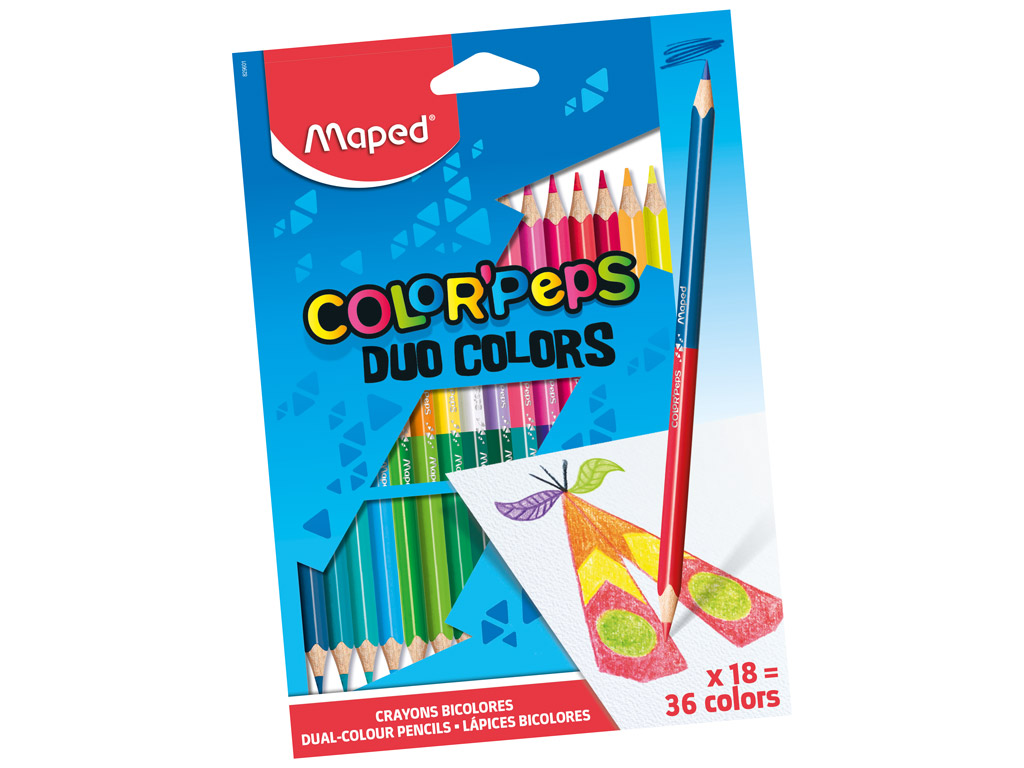 Krāsainais zīmulis ColorPeps Duo 18gab.=36gab.