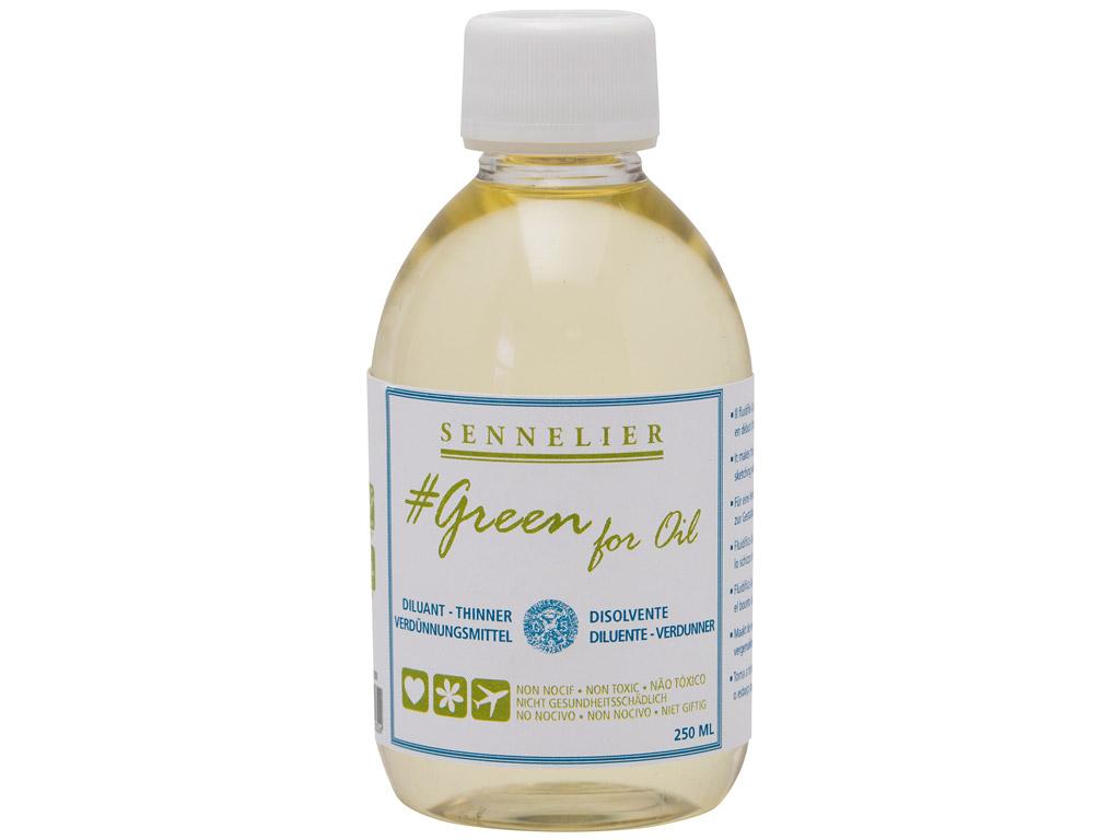 Oil colour thinner Sennelier Green for Oil 250ml