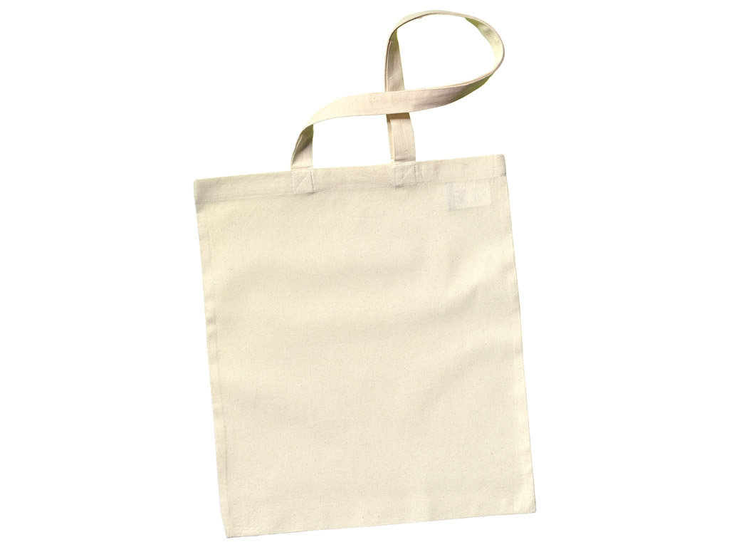 Cotton shopping bag 38x42cm long handles